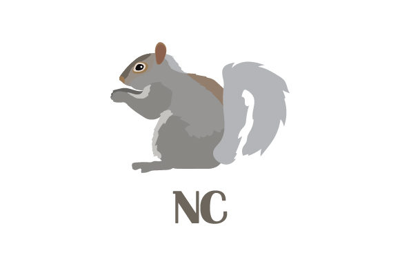 Download Free Gray Squirrel Nc Svg Cut File By Creative Fabrica Crafts for Cricut Explore, Silhouette and other cutting machines.
