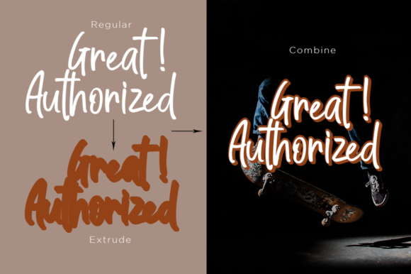 Print on Demand: Great Authorized Script & Handwritten Font By Haksen - Image 5