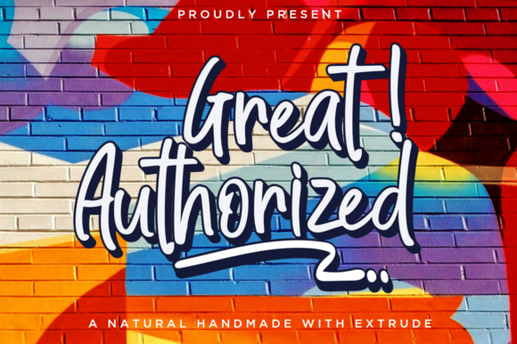 Print on Demand: Great Authorized Script & Handwritten Font By Haksen