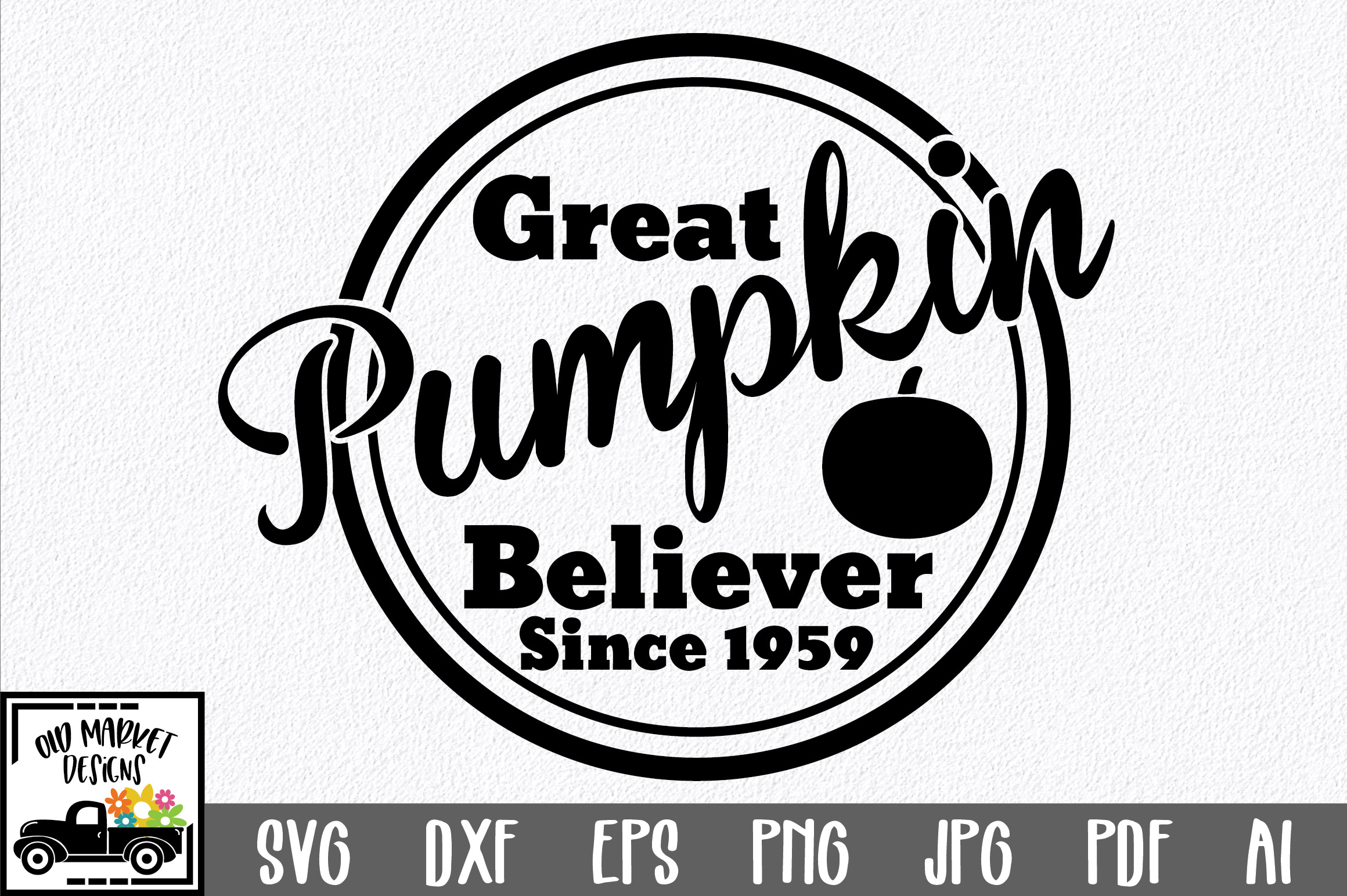 Download Free Great Pumpkin Believer Graphic By Oldmarketdesigns Creative for Cricut Explore, Silhouette and other cutting machines.