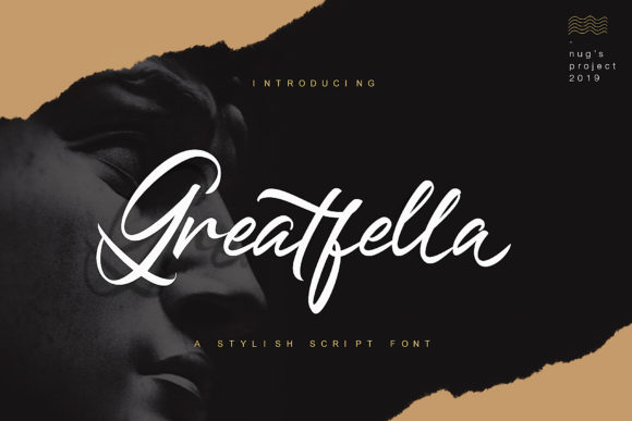 Print on Demand: Greatfella Script & Handwritten Font By Andrie Nugrie