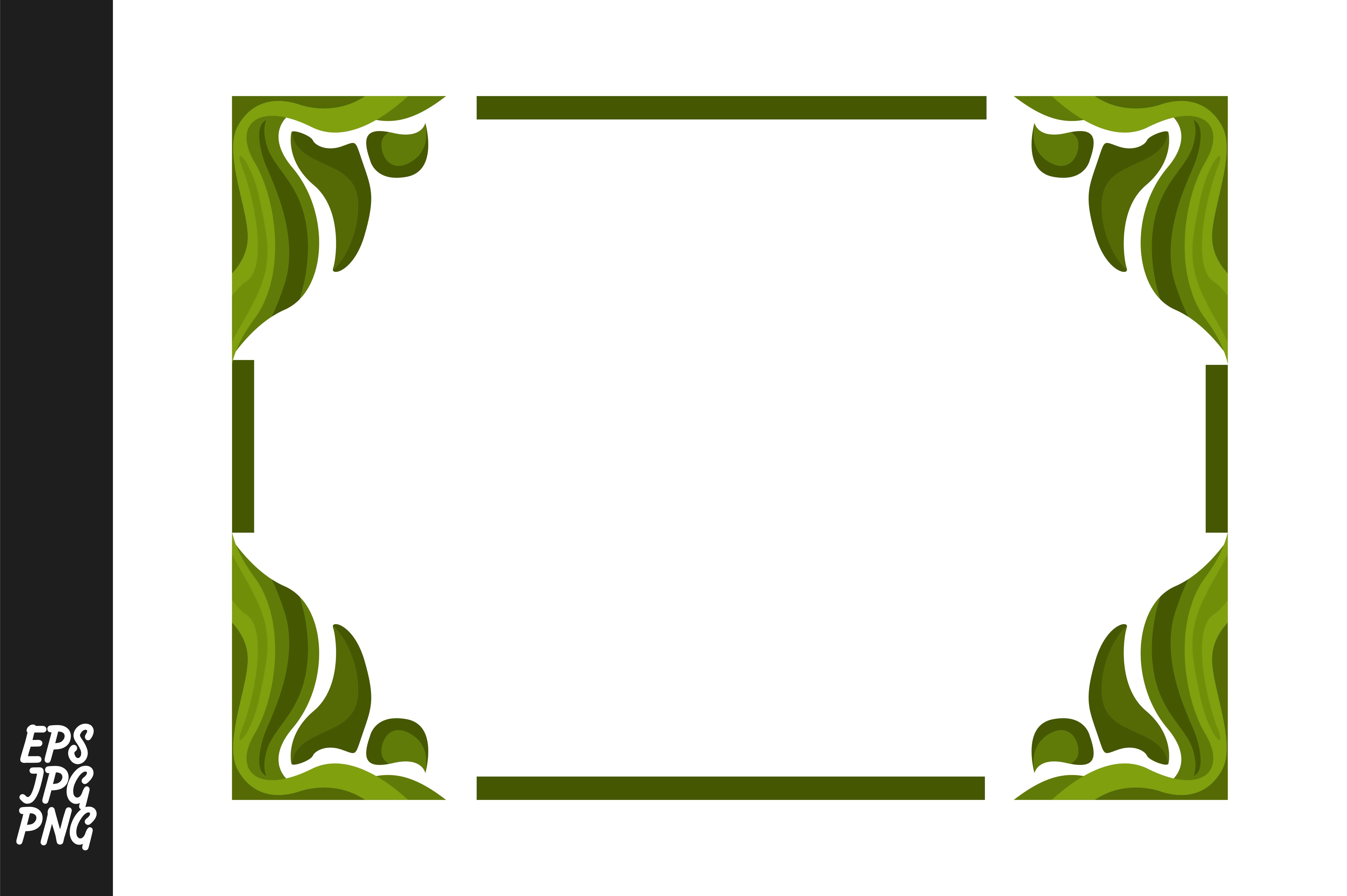 Download Free Green Ornament Border Graphic By Arief Sapta Adjie Creative for Cricut Explore, Silhouette and other cutting machines.