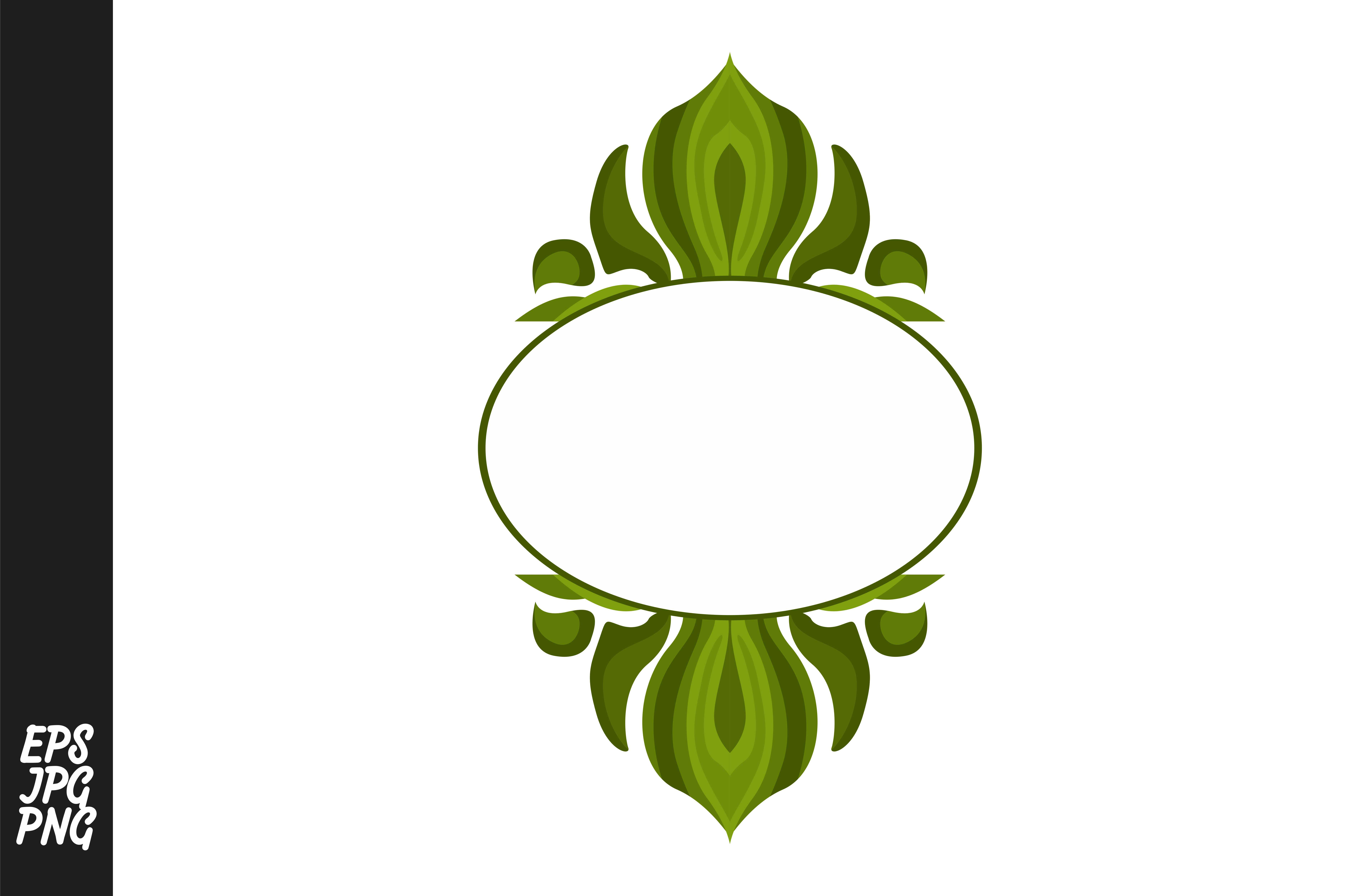 Download Free Green Ornament Monogram Graphic By Arief Sapta Adjie Creative for Cricut Explore, Silhouette and other cutting machines.