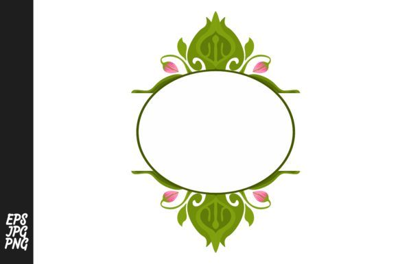 Download Free Green Flora Ornament Monogram Graphic By Arief Sapta Adjie for Cricut Explore, Silhouette and other cutting machines.