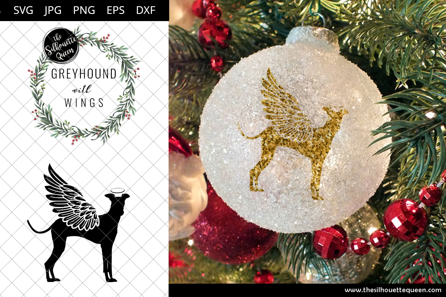 Download Free Greyhound 4 With Wings Graphic By Thesilhouettequeenshop for Cricut Explore, Silhouette and other cutting machines.