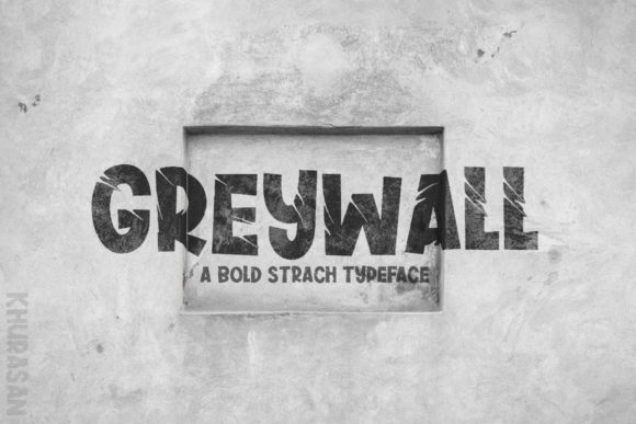Print on Demand: Greywall Display Font By Khurasan