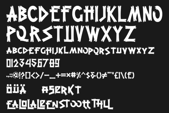 Print on Demand: Grootten Beast Display Font By gumacreative - Image 4