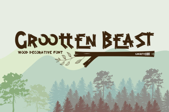 Print on Demand: Grootten Beast Display Font By gumacreative - Image 1