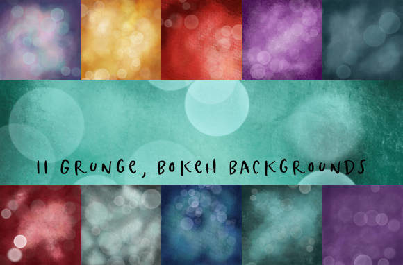 Grunge, Bokeh Backgrounds Graphic Backgrounds By BecWaterhouse