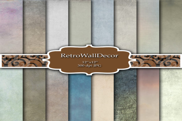 Print on Demand: Grunge Digital Paper Graphic Backgrounds By retrowalldecor
