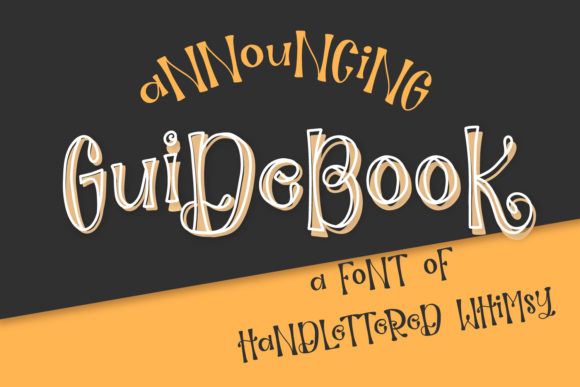 Print on Demand: Guidebook Display Font By Justina Tracy