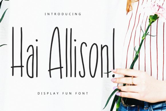 Print on Demand: Hai Allison Display Font By CreatypeStudio