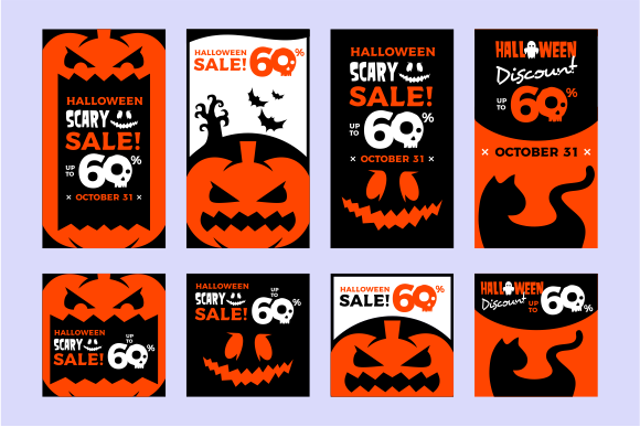 Halloween Banner Graphic Graphic Templates By davaregastudio