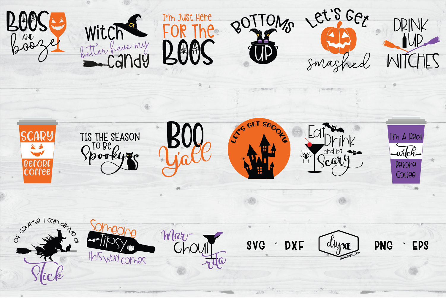 Download Free Halloween Bundle Graphic By Sheryl Holst Creative Fabrica for Cricut Explore, Silhouette and other cutting machines.