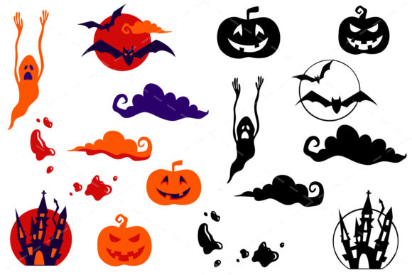 Print on Demand: Halloween Bundle 90 Elements Graphic Objects By tatiana.cociorva - Image 2