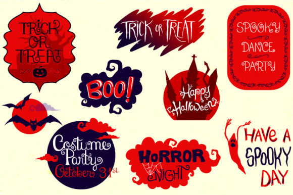 Print on Demand: Halloween Bundle 90 Elements Graphic Objects By tatiana.cociorva - Image 5