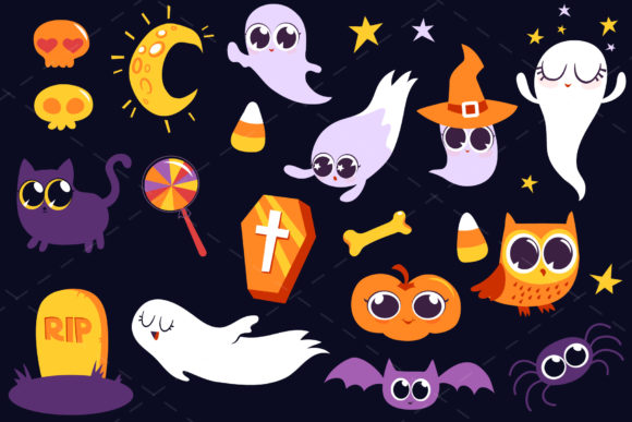 Print on Demand: Halloween Bundle 90 Elements Graphic Objects By tatiana.cociorva - Image 6