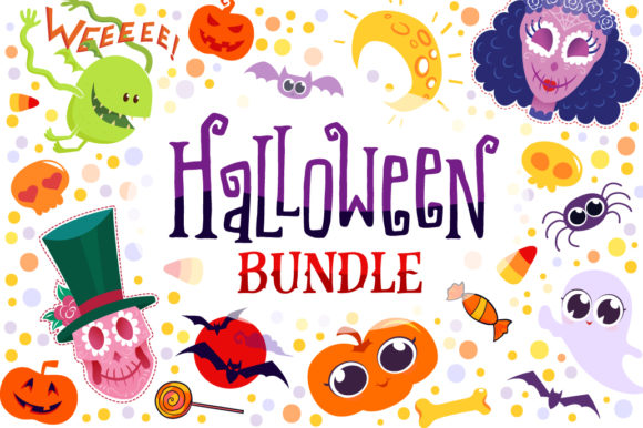 Print on Demand: Halloween Bundle 90 Elements Graphic Objects By tatiana.cociorva
