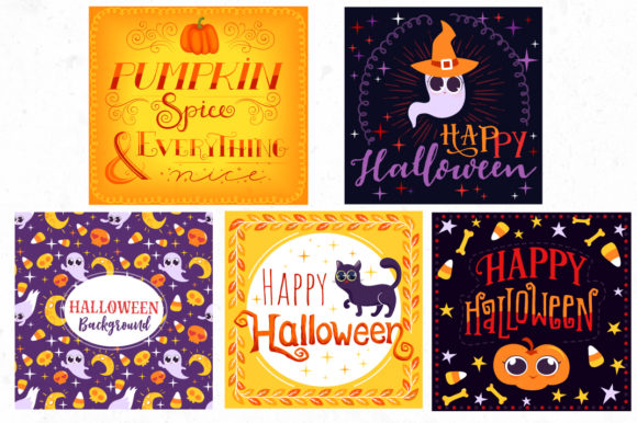 Print on Demand: Halloween Bundle 90 Elements Graphic Objects By tatiana.cociorva - Image 10
