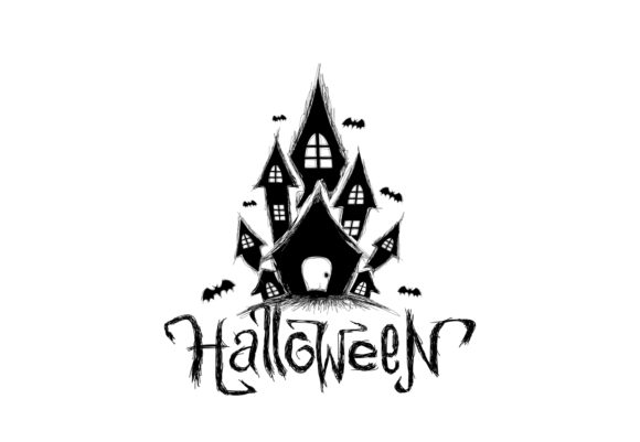 Halloween Castle Graphic Crafts By ZetDesign