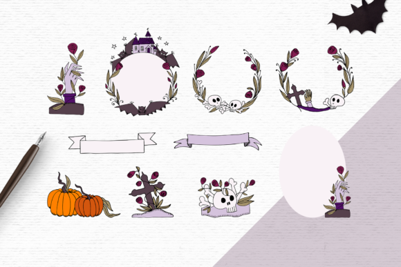 Print on Demand: Halloween Clipart Pack Graphic Illustrations By Wallifyer - Image 2