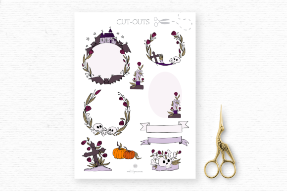 Print on Demand: Halloween Clipart Pack Graphic Illustrations By Wallifyer - Image 6