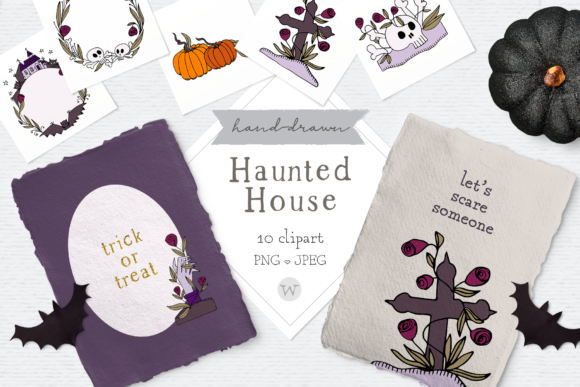 Print on Demand: Halloween Clipart Pack Graphic Illustrations By Wallifyer