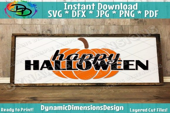 Halloween Happy Halloween Pum Graphic Crafts By dynamicdimensions