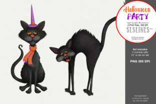 Halloween Party: Two Scaredy Cats Graphic By SLS Lines