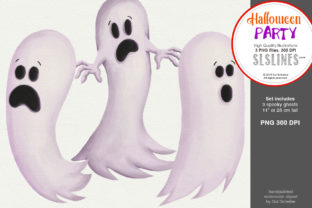 Halloween Party: a Set of Ghosts Graphic By SLS Lines