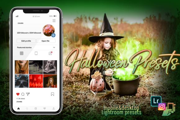 Download Free Halloween Presets Graphic By 2suns Creative Fabrica for Cricut Explore, Silhouette and other cutting machines.