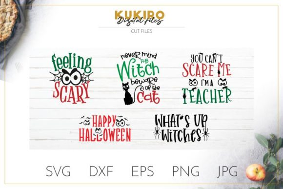 Download Free Halloween Bundle Graphic By Kukiro Creative Fabrica for Cricut Explore, Silhouette and other cutting machines.