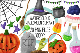 Halloween Set 2 Watercolor Graphic By The_Laughing_Sloth_Digital