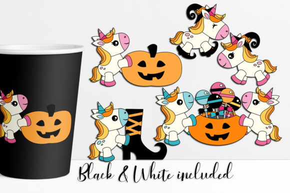 Download Free Halloween Unicorn Graphic By Darrakadisha Creative Fabrica for Cricut Explore, Silhouette and other cutting machines.