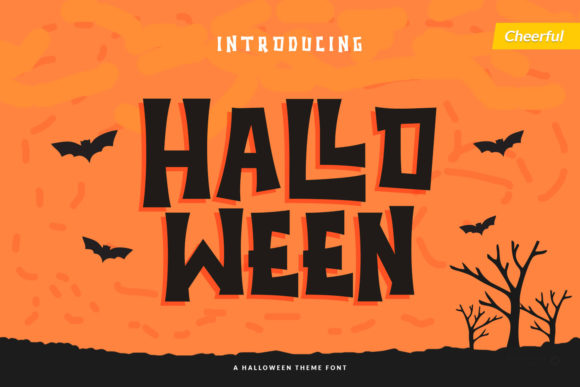 Print on Demand: Halloween Display Font By Trim Studio