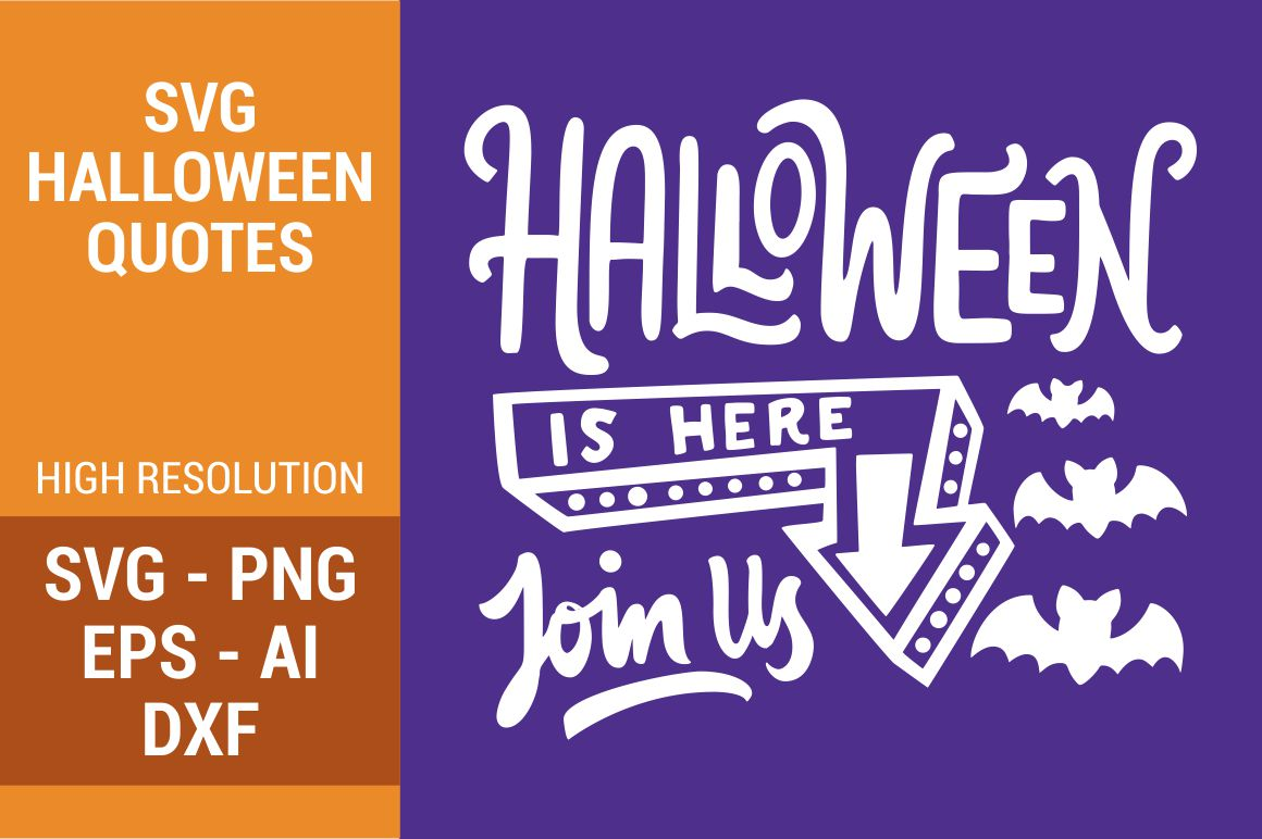 Download Free Halloween Is Here Grafico Por Kreasari Creative Fabrica for Cricut Explore, Silhouette and other cutting machines.