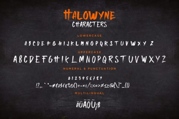 Print on Demand: Halowyne Display Font By CreatypeStudio - Image 7