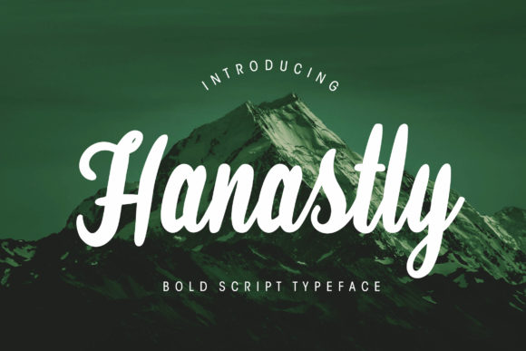Print on Demand: Hanastly Script & Handwritten Font By CreatypeStudio
