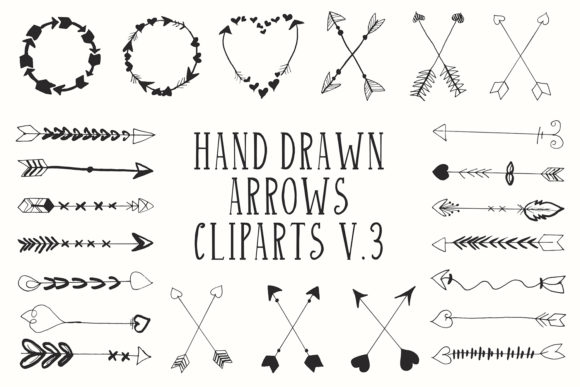 Hand Drawn Arrows Cliparts Ver 3 Graphic By Creative Tacos