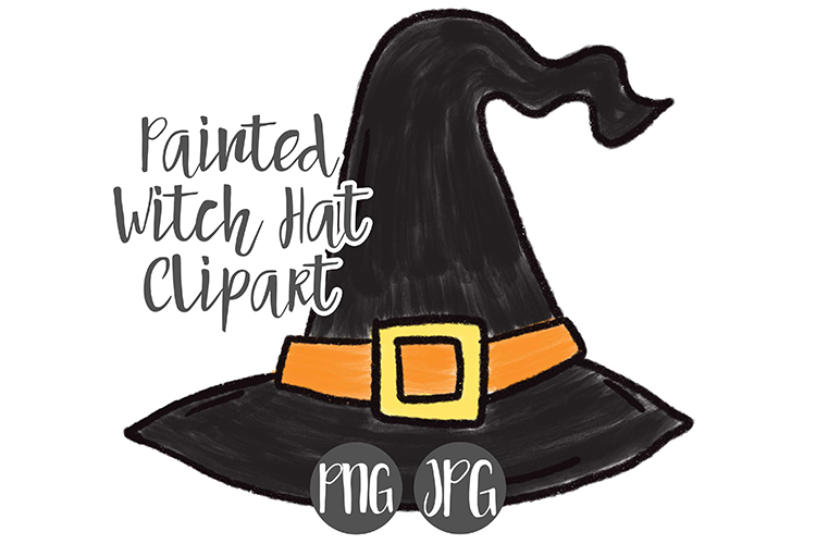 Hand Drawn Halloween Witch Hat Clipart Graphic By Boecustomdesign Creative Fabrica