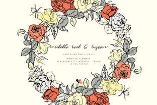 Hand Sketched Floral Clipart Collection Graphic By Patishop Art