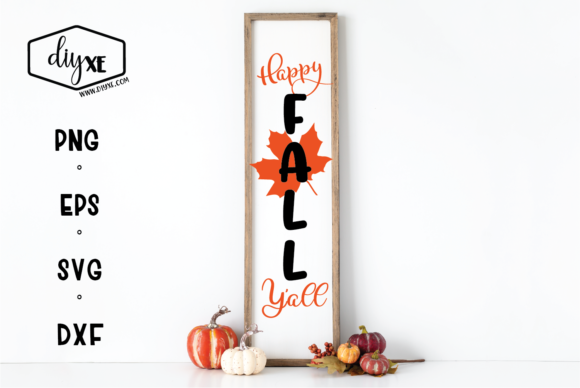 Happy Fall Y'all Graphic By Sheryl Holst