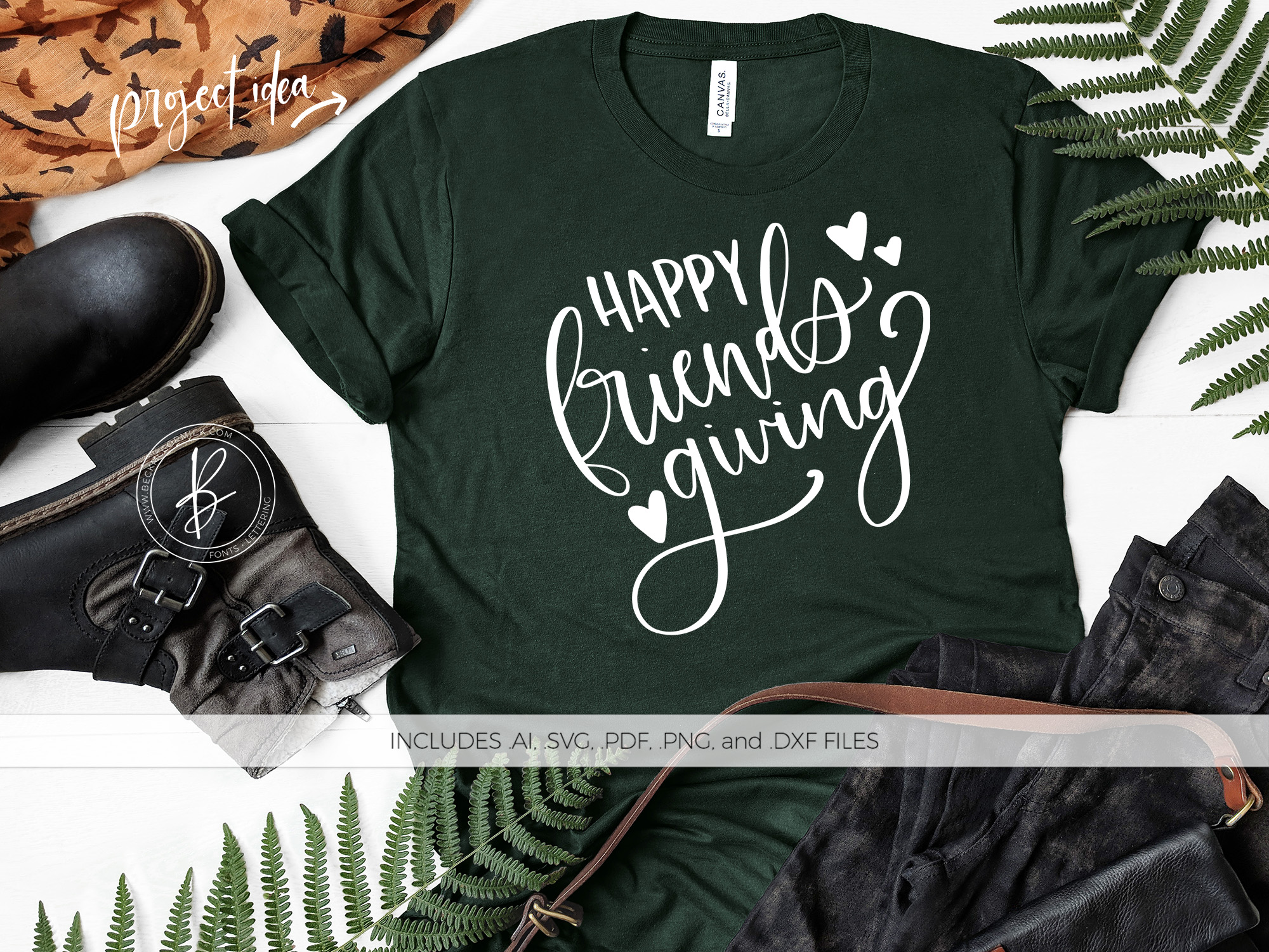 Download Free Happy Friendsgiving Graphic By Beckmccormick Creative Fabrica for Cricut Explore, Silhouette and other cutting machines.