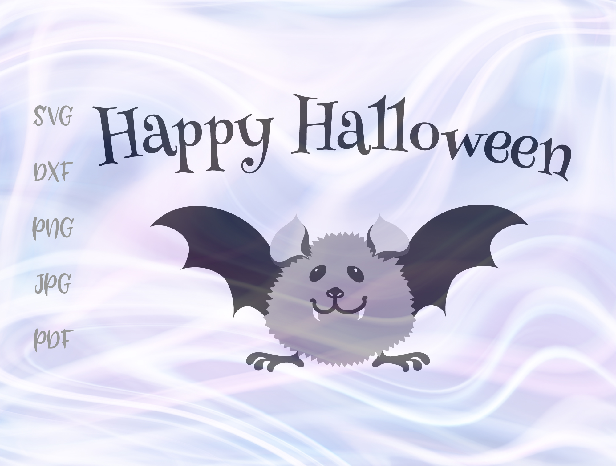 Download Free Happy Halloween Baby Bat Svg Graphic By Digitals By Hanna for Cricut Explore, Silhouette and other cutting machines.
