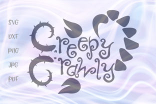 Download Free Happy Halloween Creepy Crawly Graphic By Digitals By Hanna for Cricut Explore, Silhouette and other cutting machines.