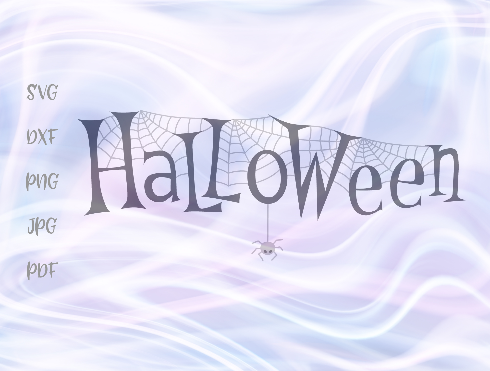 Happy Halloween Spider Web Clipart Graphic By Digitals By Hanna
