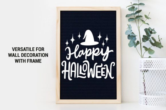 Download Free Happy Halloween Graphic By Kreasari Creative Fabrica for Cricut Explore, Silhouette and other cutting machines.