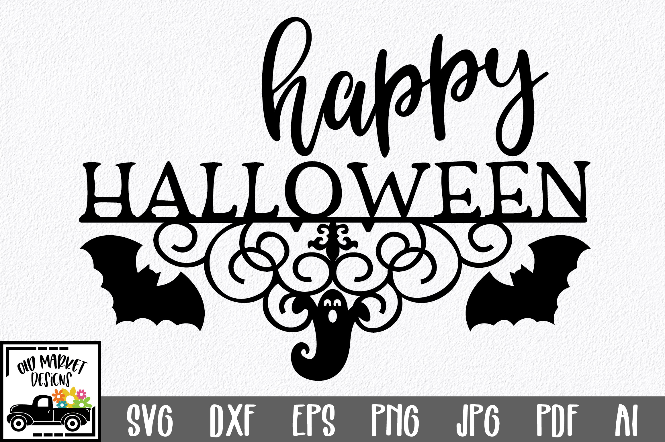Download Free Happy Halloween Graphic By Oldmarketdesigns Creative Fabrica for Cricut Explore, Silhouette and other cutting machines.