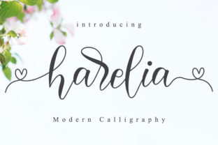 Print on Demand: Harelia Script Manuscrita Fuente Por NissaStudio