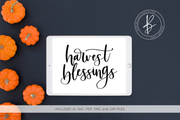 Download Free Harvest Blessings Graphic By Beckmccormick Creative Fabrica for Cricut Explore, Silhouette and other cutting machines.